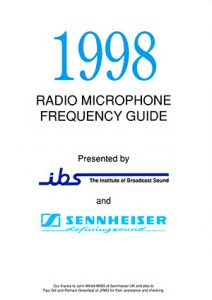 Cover Line Up 63 Radio Mic Guide